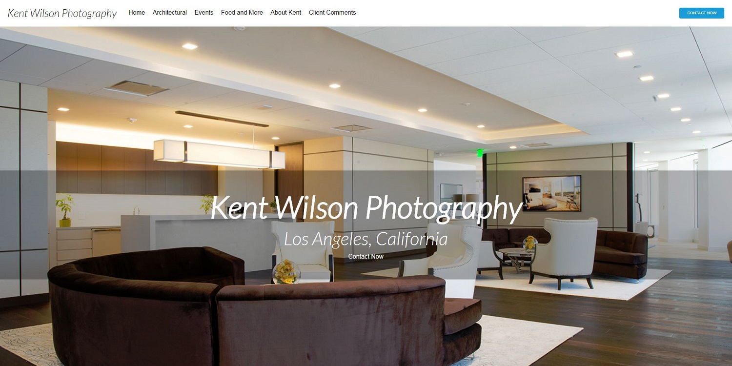 photography site screenshot